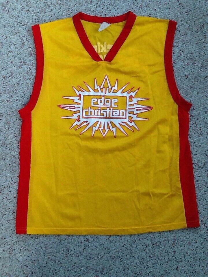 WWE Edge Christian tan saturada de genialidad Baloncesto Camiseta Camisa Grande 48