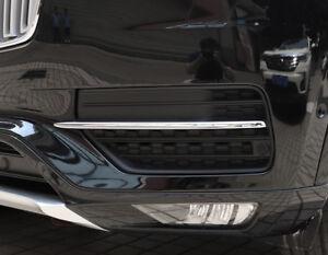 2015-2018 for Volvo XC90 2nd Gen Chrome Front Fog Lamp Fog Light Cover Trim 2pcs