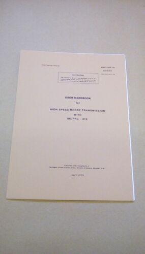 60695 CLANSMAN USER HANDBOOK HIGH SPEED MORSE UK//PRC316