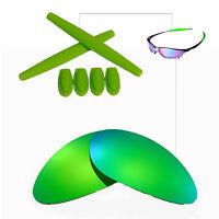 Walleva Emeraldine EG Polarized lenses w Earsocks T-shocks for Oakley Penny