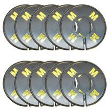 10 Pcs Rack Divider Size M Medium Black Round Ring Sizing Hanger Retail Supply D