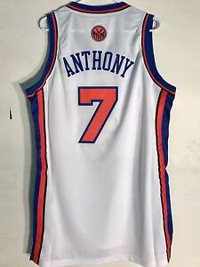Adidas Swingman NBA Jersey NEW YORK Knicks Carmelo Anthony White sz ... c7e089201