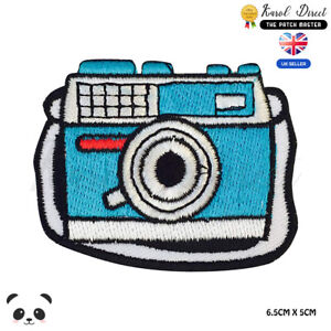 Cute-Camera-Embroidered-Iron-On-Sew-On-Patch-Badge-For-Clothes-etc