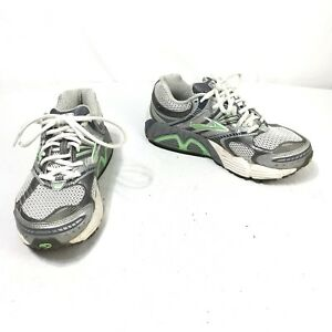 Brooks-Ariel-Women-s-Size-7-B-Green-Silver-Lace-Up-Athletic-Running-Shoes