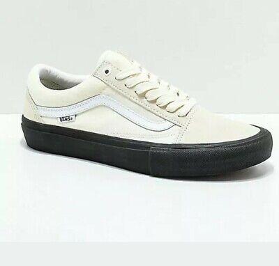 Vans Old Skool Pro Classic WhiteBlack Men's Skate Shoes Size 10.5 | eBay