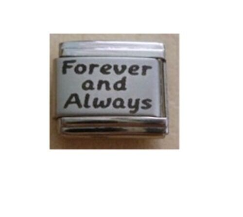 9mm Italian Charms L84 Forever and always Fits Classic Size Bracelet