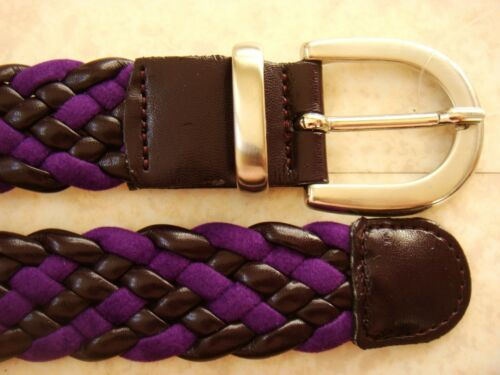 5e7eabad003 4 sur 6 Mary Kimberley Ceinture Tressee Cuir Synthetique Violet Prune Femme  Belt Woman
