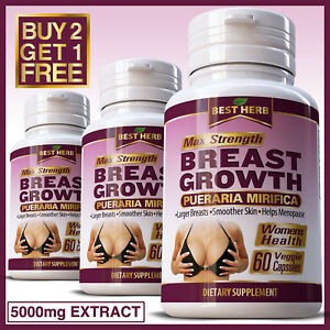 BREAST-GROWTH-PUERARIA-MIRIFICA-CAPSULES-FIRMING-BUST-ENLARGEMENT-5000mg-EXTRACT
