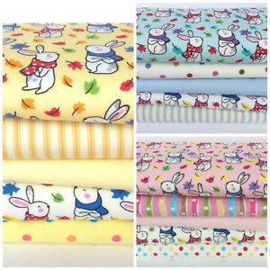 Baby-Bunny-5-piece-fat-quarter-bundles-amp-fabrics-100-cotton-fabric