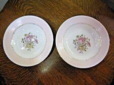 "Eggshell Theme Homer Laughlin 8/"" dessert Plate Cream And Floral B47n5 made USA"