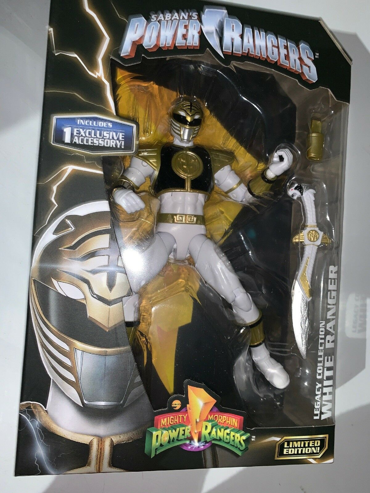 """Power Rangers Legacy Collection Mighty Morphin White Ranger 6"""" Action Figure"""