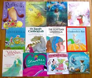 Details about Lot 12 CINDERELLA Picture Book Traditional Multicultural  Fractured Fairy Tale L2