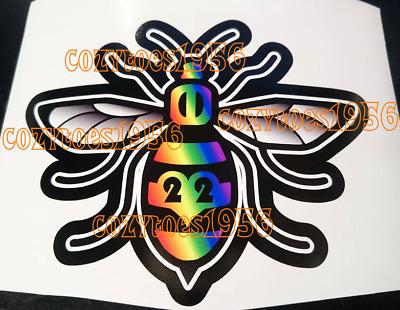 Manchester Bee fade blue car van window laptop wall sticker decal vinyl