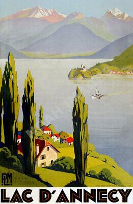 16x24 1920s Caux Switzerland Vintage Style Resort Travel Poster