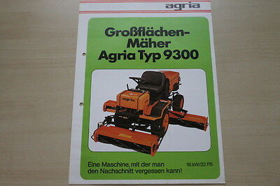 Auto & Motorrad: Teile Agria Großflächenmäher 9300 Prospekt 04/1981 Fortgeschrittene Technologie üBernehmen Berichte & Zeitschriften UnermüDlich 163569