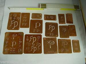 15-x-FP-Merkenthaler-Monogramme-Kupfer-Schablonen-Stencils-Patrons-broder