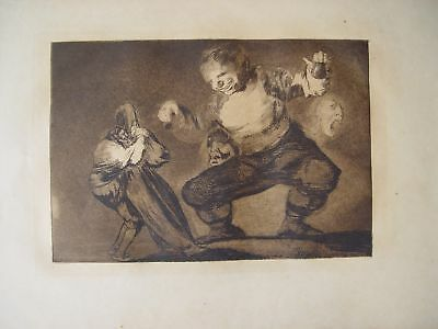 Discreet Francisco Goya's 'bobalicón' Proverb N.4 Other Antiques