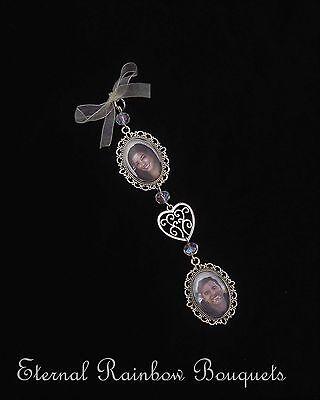 Brioso Telaio A Doppia Bouquet Memory Charm-foto Cuore Ciondolo Memorial-fiori-regalo-mostra Il Titolo Originale Ad Ogni Costo