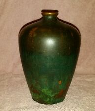 CLEWELL POTTERY COPPER-CLAD VASE SIGNED AND NUMBERED