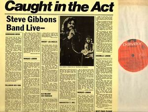 STEVE-GIBBONS-BAND-caught-in-the-act-UK-Original-LP-EX-EX-Rock-amp-Roll