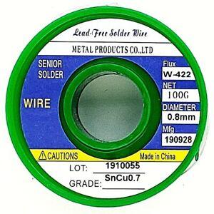 Tin-Solder-Wire-031-034-0-8mm-Lead-Free-Rosin-Core-Soldering-Sn99-3-Cu0-7-3-5oz