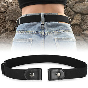 Buckle-free-Elastic-Invisible-Waist-Belt-for-Jeans-No-Bulge-Hassle-Men-Women-New