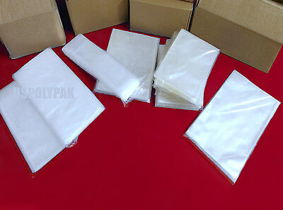 """100-1000 5x12/"""" Clear Poly Bags Layflat 1Mil LDPE Open Top End Plastic Baggies"""