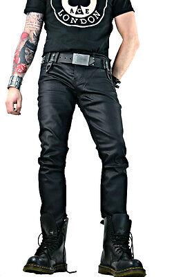 LIP SERVICE PVC VINYL  rocker gothic skinny rockabilly JEANS moto punk PANTS
