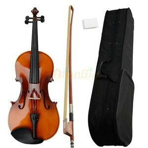"""New 16"""" Full Professional Adult Maple Acoustic Viola + Case + Bow + Rosin Brown"""
