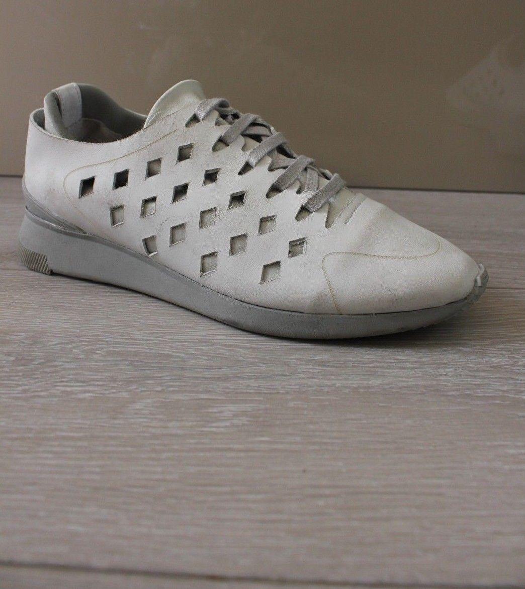 H By Hudson Cuero Cuero Cuero blancoo Halliday Nubuck Zapatillas zapatillas 4 37 Nuevo  orden ahora disfrutar de gran descuento
