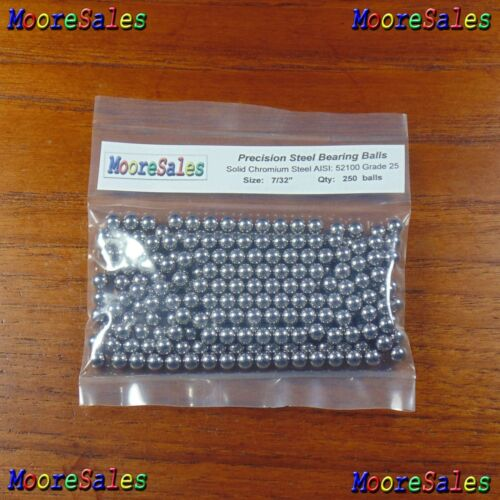 "0.21875 in // 5.55625 mm 250 Premium 7//32/"" Solid Steel Ball Bearing Loose G25"