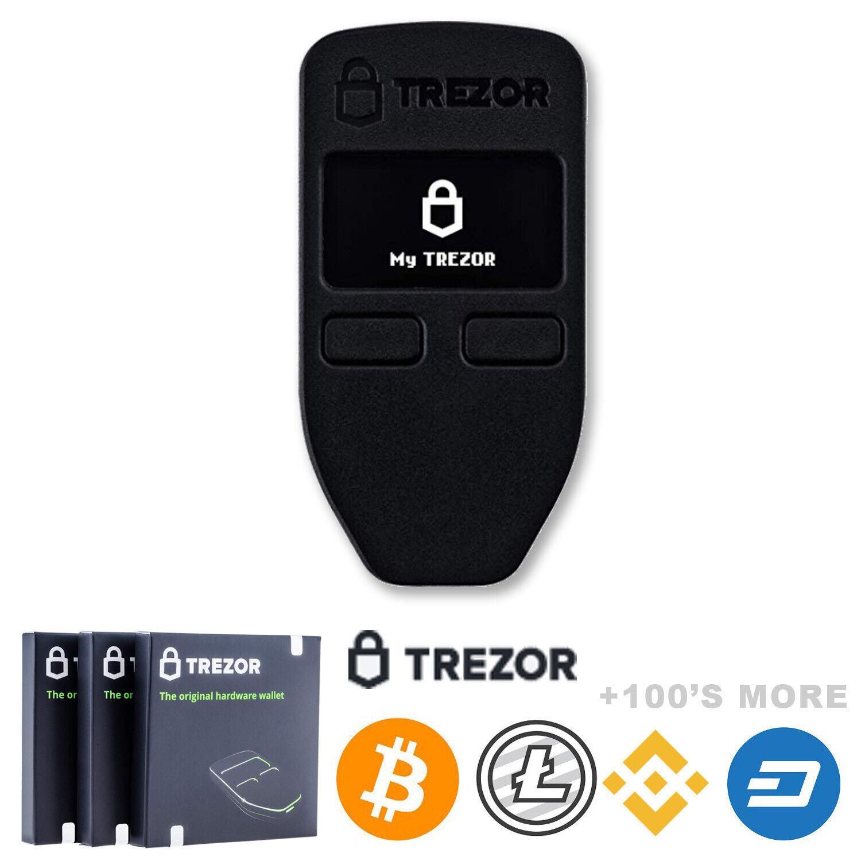 Trezor Hardware Wallet | Black | Brand NEW | Factory Sealed Authorized Seller 1