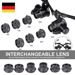 10-15-20-25-Uhrmacher-Lupe-Brillenlupe-Lupenbrille-Uhr-Reparat-Kopflupe-Juwelier