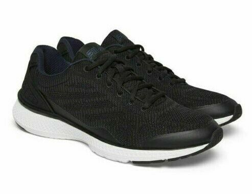 Fila Men's Startup Memory Foam Athletic Running Sneakers Black Navy