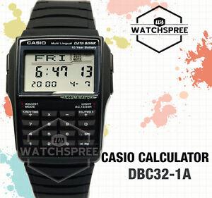 Casio-Multi-Lingual-Data-Bank-Watch-DBC32-1A-AU-FAST-amp-FREE