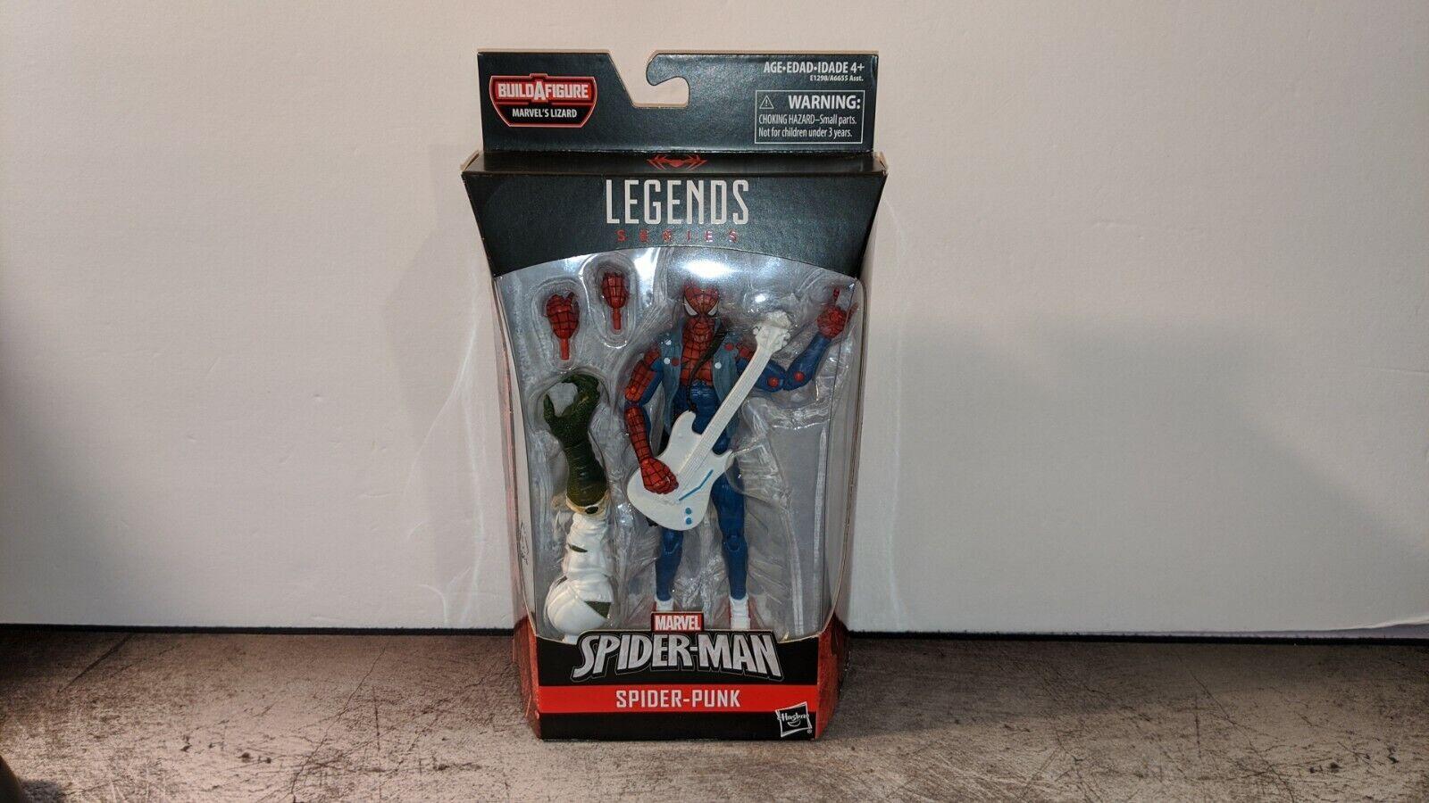 Marvel Legends Spideruomo SpiderPunk Lizard Wave BAF azione cifra