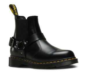 084c9c17cad Details about NIB Dr Martens Wincox Black Leather Harness Chunky Chelsea  Boots R23866001