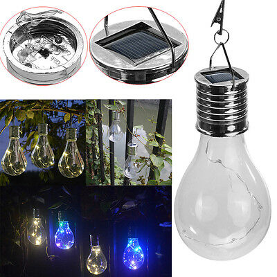 Waterproof Solar Rotatable Outdoor Garden Camping Hanging LED Light Lamp Bulb US