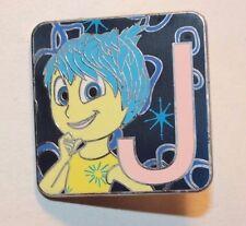 Disney Mystery Pin Pixar Alphabet Letter J Joy Inside Out