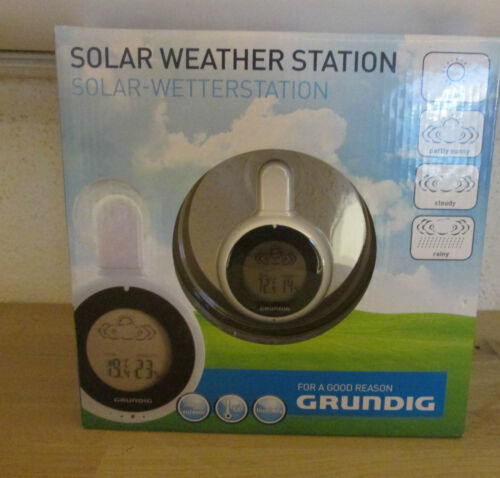 Grundig Solar Weather Station inside and outside Thermometer Hygrometer