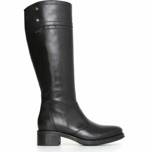 Stivale NeroGiardini A719820D nuova collezione pelle nero e marrone OFFERTA