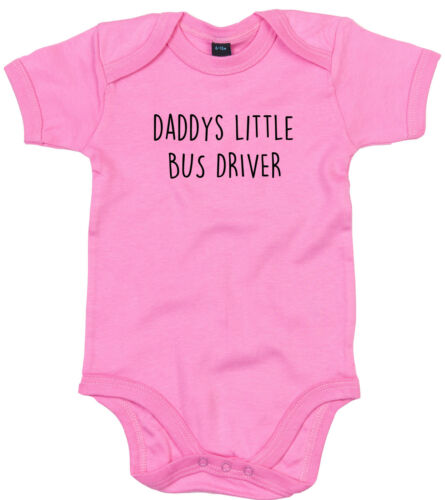 BUS DRIVER BODY SUIT PERSONALISED DADDYS LITTLE BABY GROW GIFT