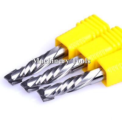 5pcs 6x25MM Up/&Down Compression 2 Flutes Spiral Cutter Wood MDF CNC Router Bits