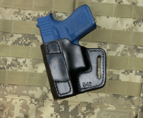 OWB Leather Holster Fits Glock 42 .380 Avenger Professional