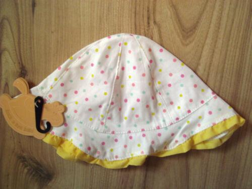 Chapeau soleil bébé fille bambin d/'été à pois rose et jaune enfants 3-6//6-12 monhs