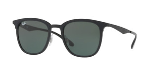 Ray Ban RB4278 628271 51 Black Matte Black Plastic Square Sunglasses Green Lens