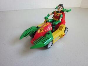Bandai-DC-Comics-Teen-Titans-Go-Robin-avec-cisaillement-Speeder-vehicule-3-5-034-2003-difficile-a