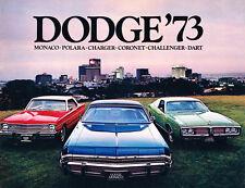 1973 Dodge 40-page Car Sales Brochure - Monaco Challenger Charger Dart  Polara