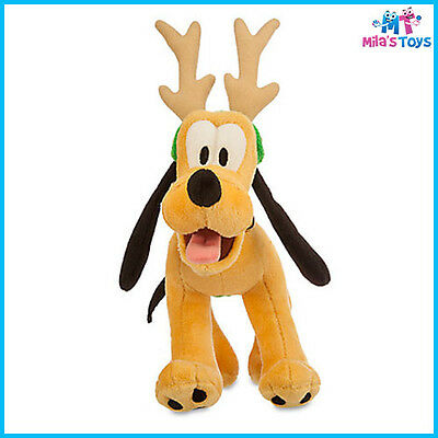 "Disney Pluto Christmas Holidays 7"" Plush Doll brand new with tags"