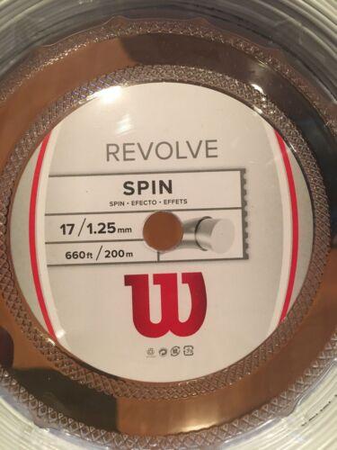 New!!! Wilson Revolve Spin 17g Tennis Strings White